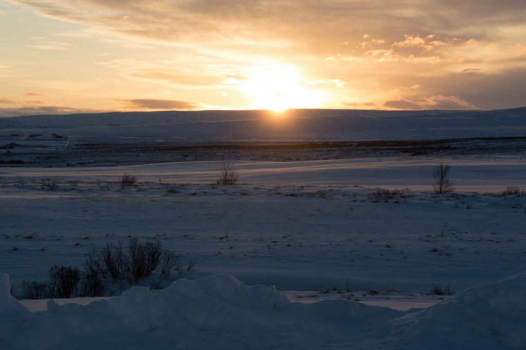 En skøn solopgang